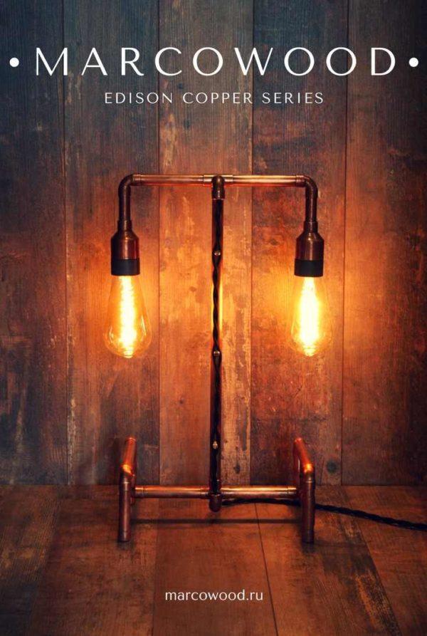 Светильник ручной работы в стиле Лофт