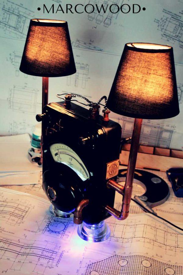 светильник из запчастей