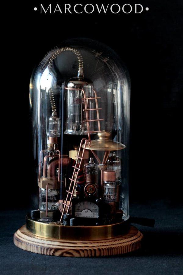 steampunk lamp , стимпанк лампа , светильник стимпанк